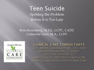 Teen Suicide: Spotting the Problem Before It Is Too Late