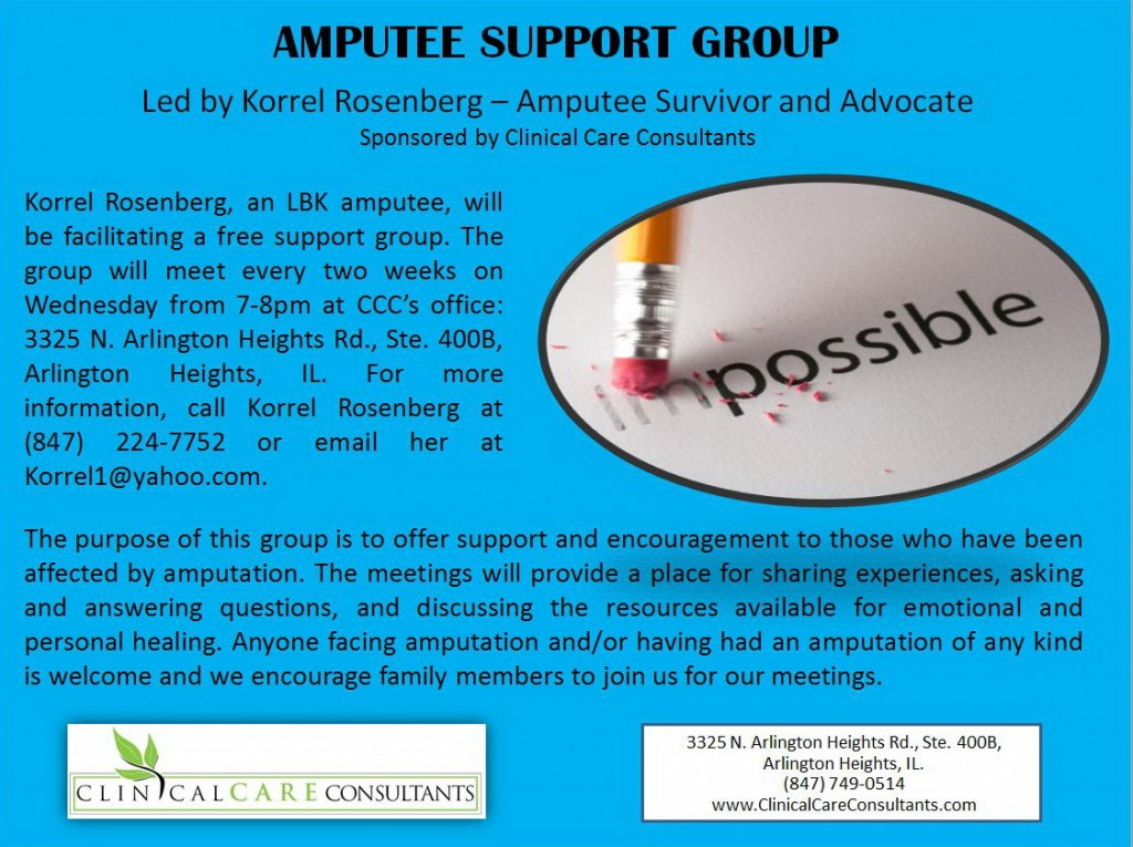 chicago amputee support group flyer