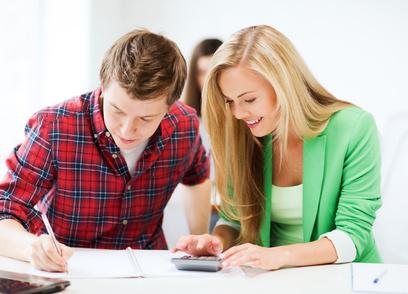 students doing mathematics at school